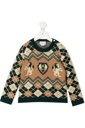 Gucci Argyle knit buttoned jumper