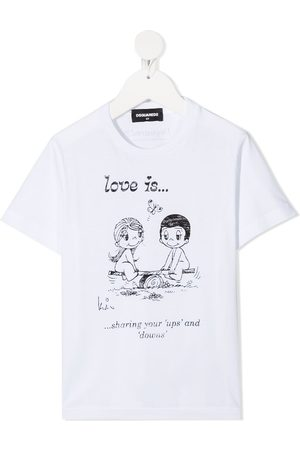 Dsquared2 Love Is print T-shirt