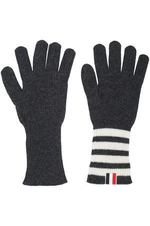 Thom Browne Heren Handschoenen - 4-bar cashmere gloves