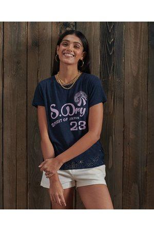 Superdry Montauk T-shirt met kanten details en print