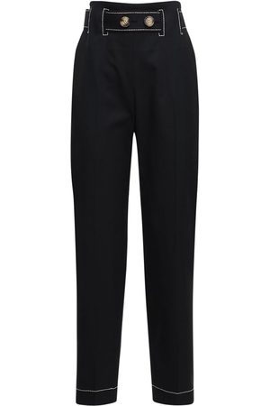REJINA PYO Astrid Wool Blend Straight Pants