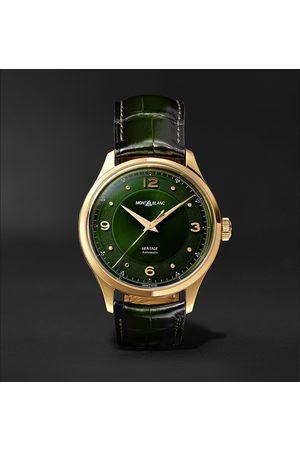 Mont Blanc Heren Horloges - Heritage Automatic 40mm 18-Karat Gold and Alligator Watch, Ref. No. 126464