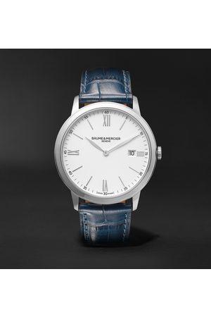 Baume & Mercier Heren Horloges - Classima 40mm Steel and Croc-Effect Leather Watch, Ref. No. 10508