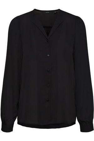Vero Moda Longsleeve Overhemd Dames Zwart