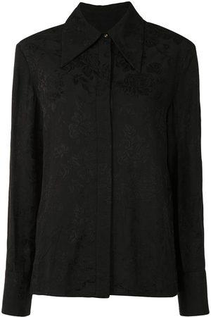 Karen Walker Blossom floral-jacquard shirt