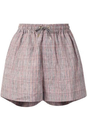 Karen Walker Maple checked linen shorts