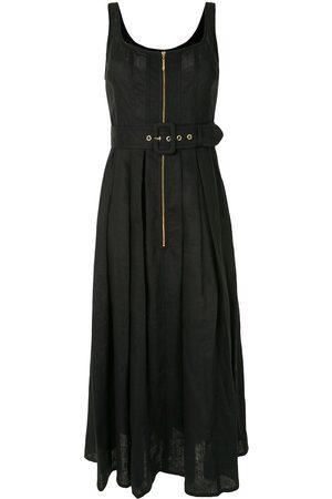 Karen Walker Poppy belted linen dress