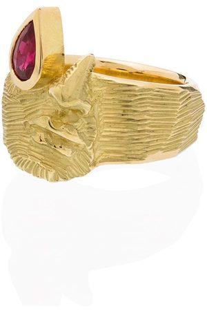 JOY BC 18kt yellow Precious Tear ruby ring