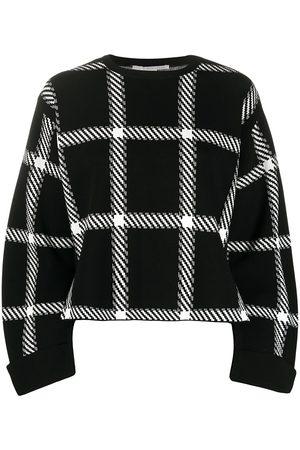 Stella McCartney Windowpane check print sweatshirt