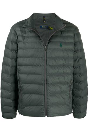 Polo Ralph Lauren Embroidered-logo padded jacket