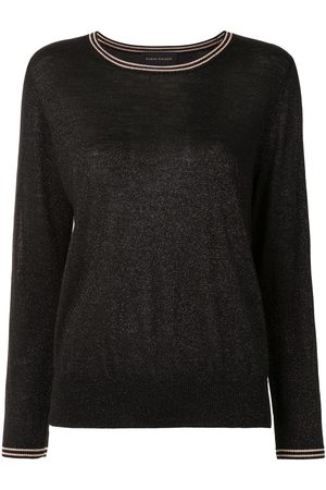 Karen Walker Apollo stripe-trimmed metallic jumper