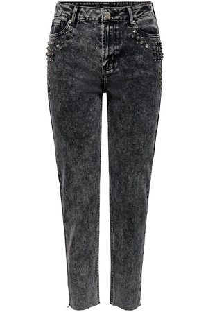 Only Onlwild Emily Hw Acid Ankle Straight Fit Jeans Dames Grijs