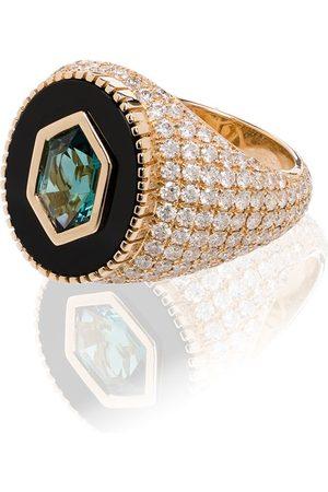 O THONGTHAI 14kt yellow Fancy Cut tourmaline diamond ring