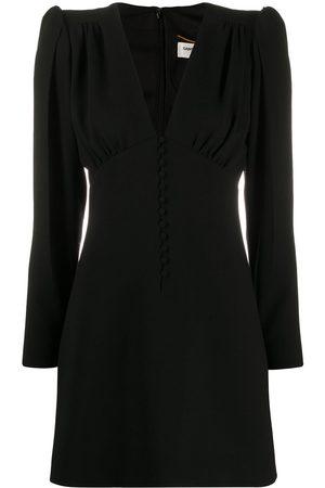 Saint Laurent V-neck long-sleeved dress