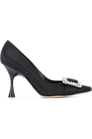 Sergio Rossi Sr Twenty crystal-buckled pumps