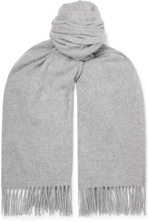 Acne Studios Heren Sjaals - Oversized Fringed Melangé Wool Scarf