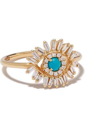 Suzanne Kalan 18kt yellow Evil Eye ring