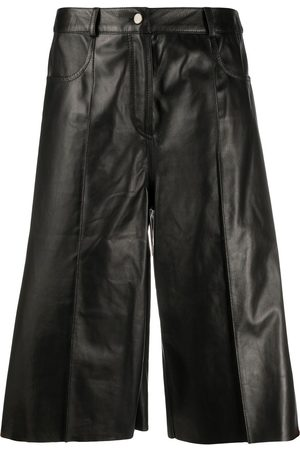 DROME Knee-length leather shorts