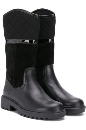 Geox Casey contrast-panel snow boots