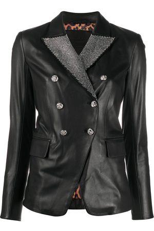 Philipp Plein Crystal-embellished double-breasted jacket