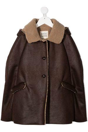 DOUUOD KIDS Meisjes Donsjassen - Faux-shearling collar jacket