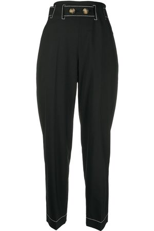 REJINA PYO High-rise straight leg trousers