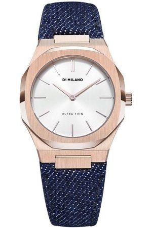 D1 MILANO Denim strap watch