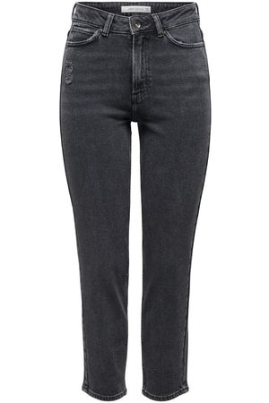 Only Dames Straight - Jdykaja Life High Ankle Straight Fit Jeans Dames Zwart
