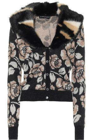 Y / PROJECT Dames Cardigans - Floral mohair-blend cardigan