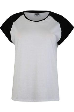 Urban Classics Curvy Dames T-shirts - Shirt 'Ladies Contrast Raglan