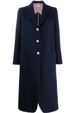 Thom Browne Unconstructed elongated sack overcoat in military weight cashmere