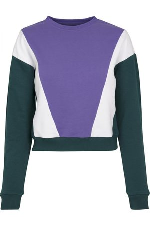 Urban classics Sweatshirt ' Ladies 3-Tone Arrow Crew