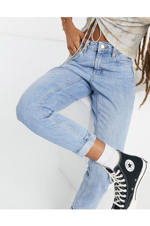 Topshop Mom jeans in bleach wash-Blue