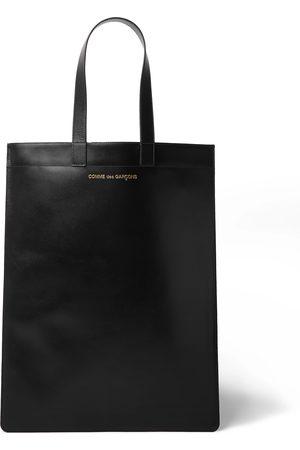 Comme des Garçons Heren Shoppers - Logo-Print Leather Tote Bag
