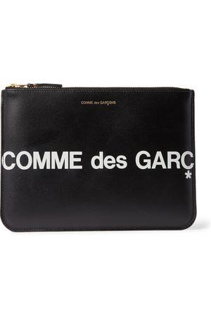 Comme des Garçons Heren Laptotassen - Logo-Print Leather Pouch