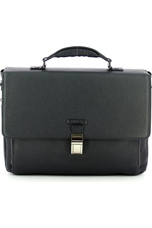 Piquadro Modus 15.0 leather expandable briefcase