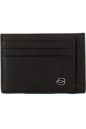 Piquadro Black Square Credit Card Holder