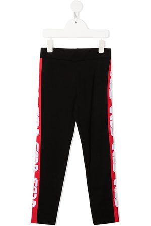 GCDS Logo-stripe pull-on leggings