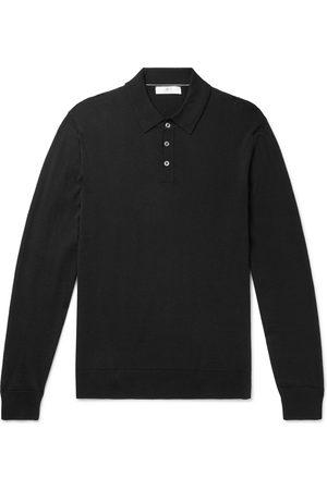Mr P. Slim-Fit Merino Wool Polo Shirt