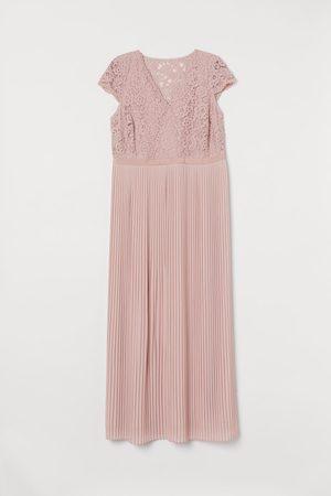 H&M Dames Plooirokken - + Kanten jurk met plissérok