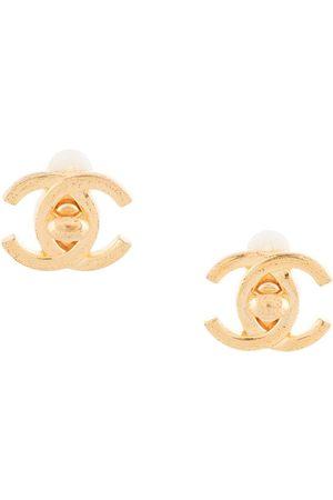 CHANEL 1995 CC turn-lock earrings