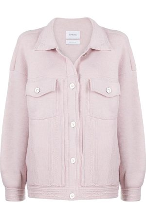 Barrie Ribbed-panel oversized cardigan