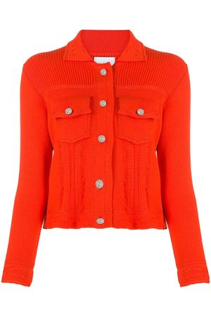 Barrie Ribbed-panel knitted cardigan