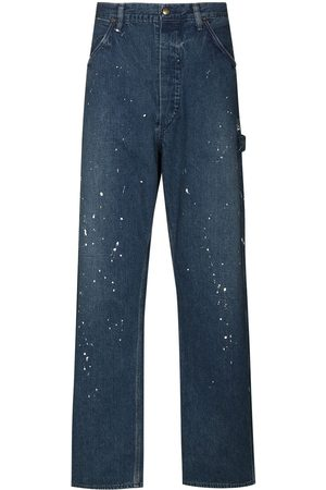 ORSLOW Paint splatter straight-leg jeans