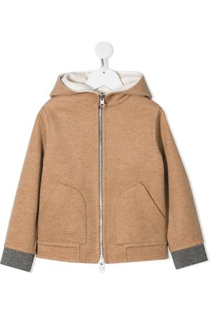 Brunello Cucinelli Hooded cashmere coat