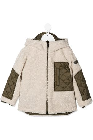 Il gufo Contrast-panel hooded jacket