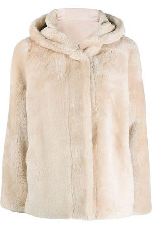 PESERICO SIGN Shearling hooded jacket