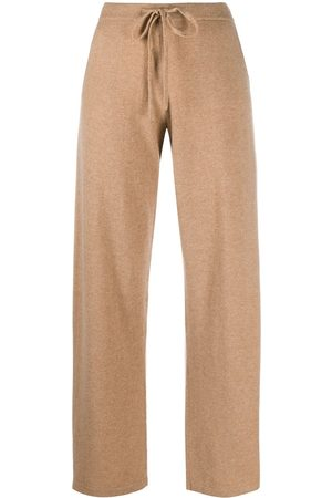 Chinti And Parker Embroidered logo cashmere track pants