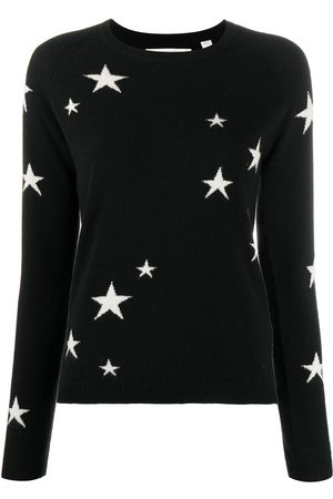 Chinti And Parker Star print cashmere jumper