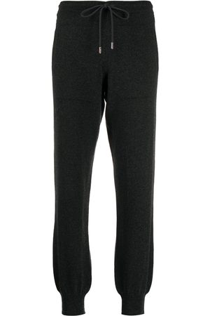 Barrie Drawstring cashmere track pants